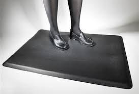 Anti Fatigue Mats zorgen ervoor dat je langer kan rechtstaan aan de standing desk zonder vermoeid te worden