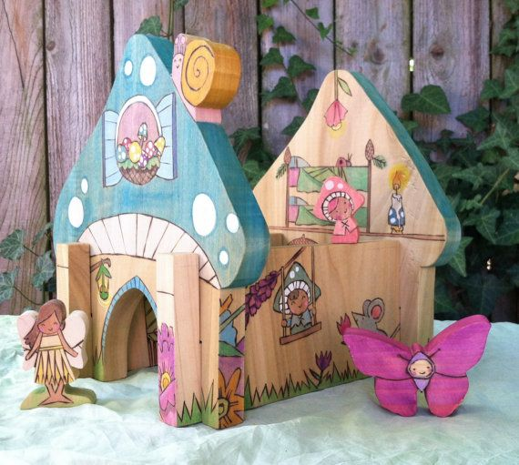 Custom Fairy Homes, Waldorf-inspired all-natural wooden toy