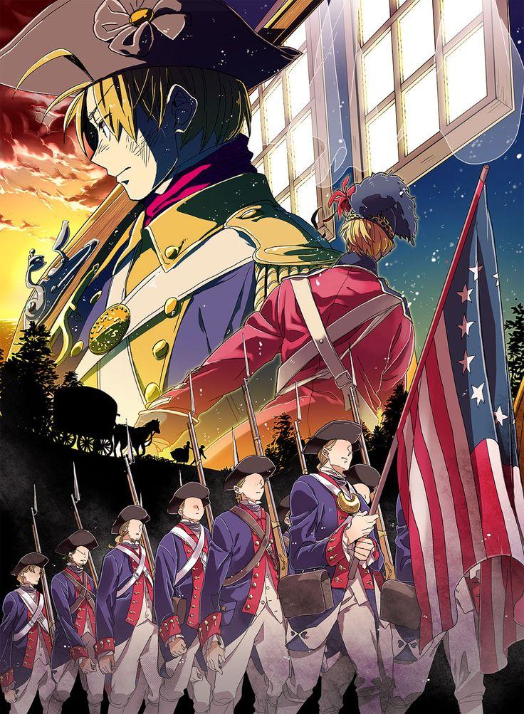 Hetalia American Revolution Pin by Emma Wright (Ru...