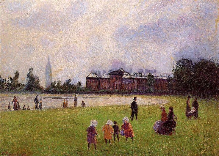 Kensington Gardens London 1890 ~ Camille Pissarro ~ (French: 1830-1903)