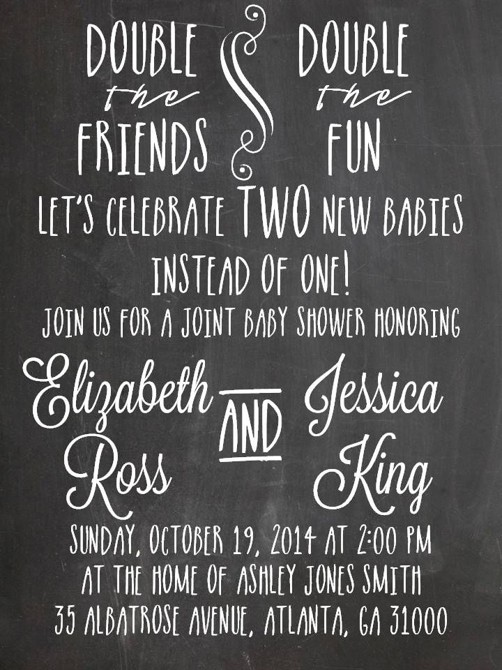 Double Baby Shower Invitation Idea