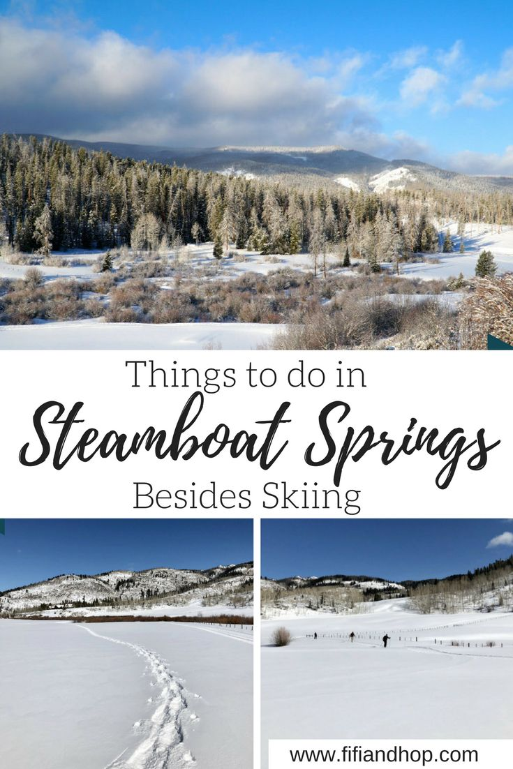 Things to do in Steamboat Springs Besides Skiing | Steamboat Springs ski resort in CO is an amazing place to take a vacation. But what if you don't ski? No ski, no problem. This rocky mountain town has so much going on besides skiing. Here is our complete list of things to do in Steamboat Springs besides skiing. #Steamboatsprings #vacation #Steamboatspringsactivities