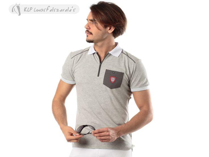 Tattini Men Show Zipped Polo Shirt