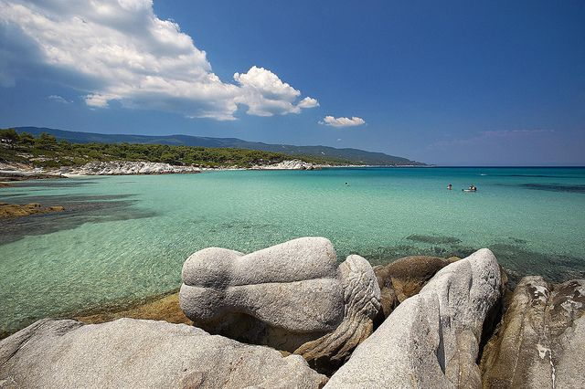 #Kavourotripes Beach in #Halkidiki, #Greece. (http://www.cycladia.com/blog/tourism-insight/halkidiki-travel-guide)
