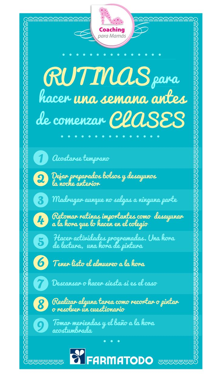 Presta atención a estos tips perfectos para el regreso a clases #Familia
