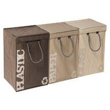 Look At These Home Recycling Bins. They Look Great!: Recyclebags Recycle Bin 3-pc. Set