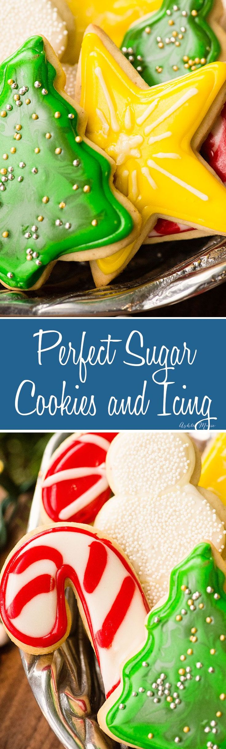 Easy and delicious Sugar Cookie recipes with a video tutorial including tips for decorating. | Winter | Holiday | Cookies | Icing | Christmas | #christmascookies #christmasrecipes #winter #holiday #cookies (easy fun desserts holiday cookies)