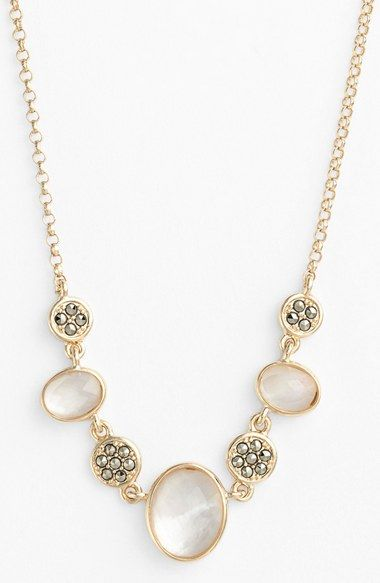 Women's Judith Jack Frontal Necklace - Gold/ Marcasite/ Pearl