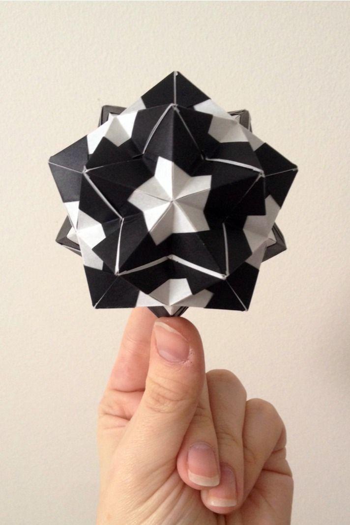 tutorial origami ball / kusudama (sonobe variation)