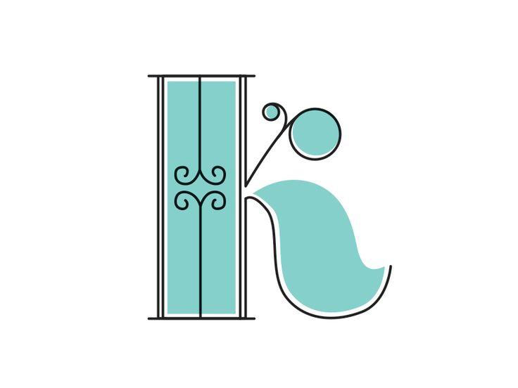 Personal Branding - Letter K // type / alphabet / inspiration / font / teal and black