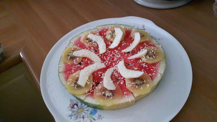 Meloen pizza. Verjaardagsontbijt  @handmadebylenicka