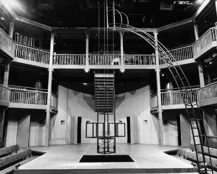 Set of Tragedy of Faustus in Globe Theater