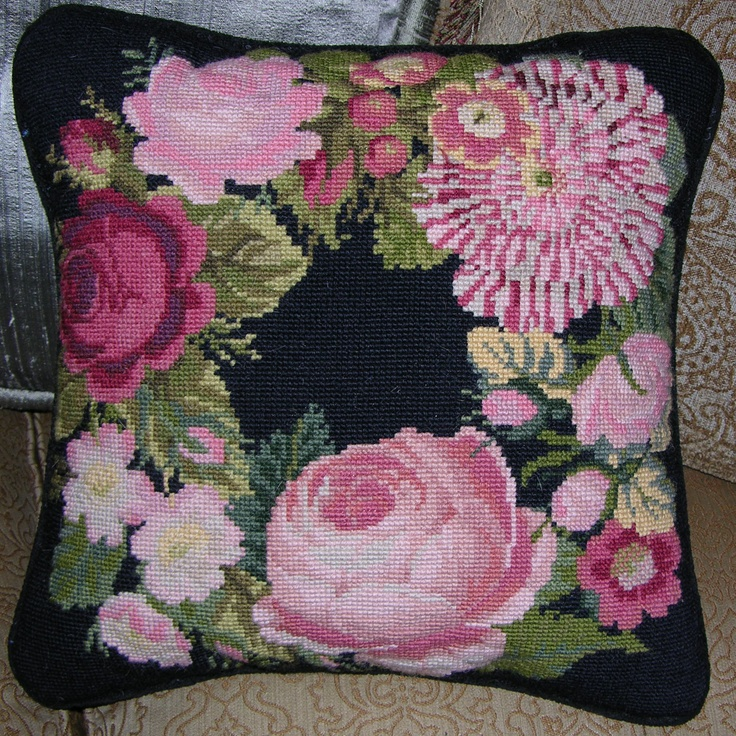 Needlepoint Pillow Decoration Perhaps Crossword : A Wreath of Roses My Elizabeth Bradley Needlepoint Cushions Pinterest Needlepoint, Roses ...