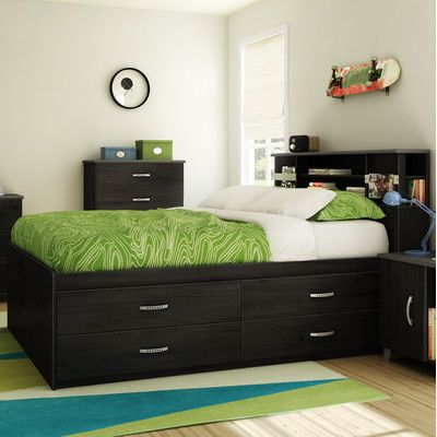 South S Lazer Full Captain Bed With Storage Reviews Wayfair