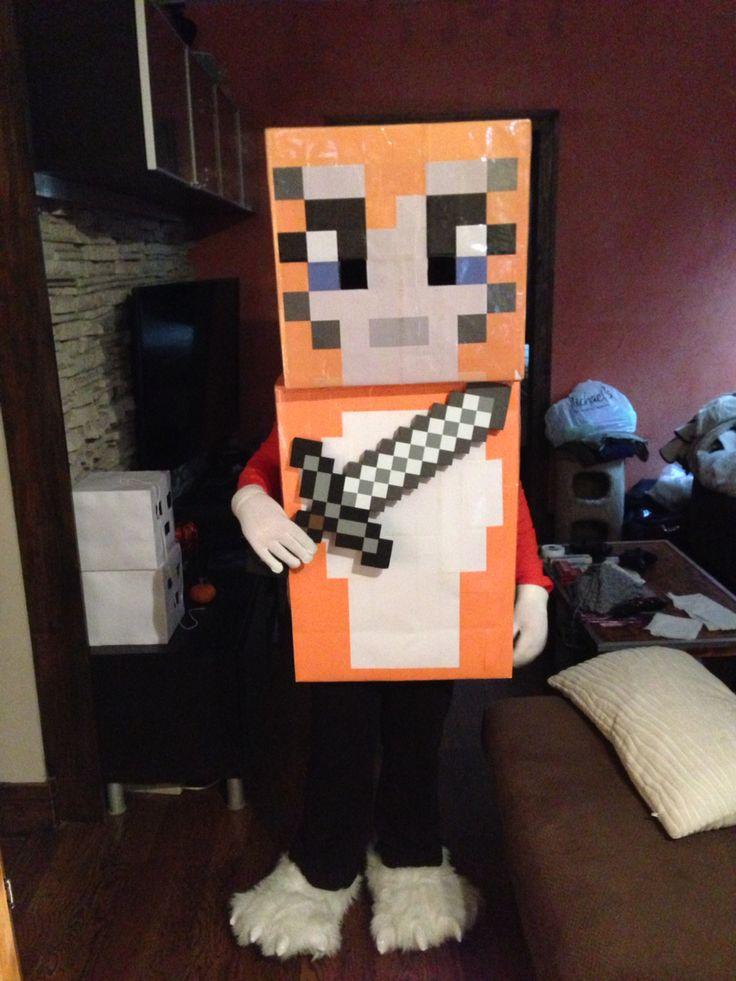Stampy costume for Halloween