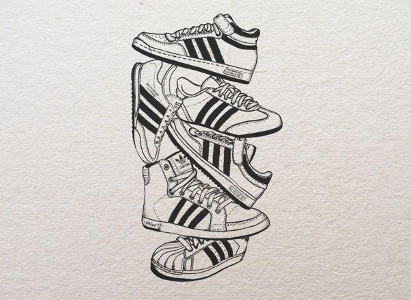 Adidas illustration on Behance