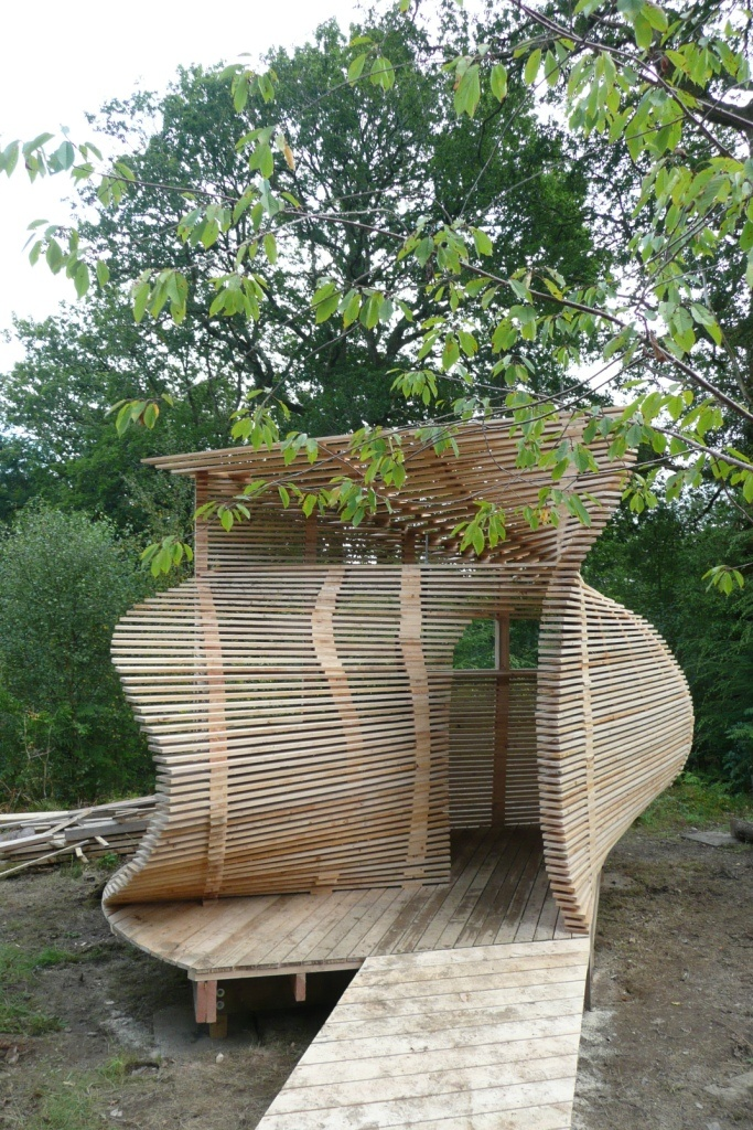 Footprint » CAT architecture students build a pavilion and a bird hide