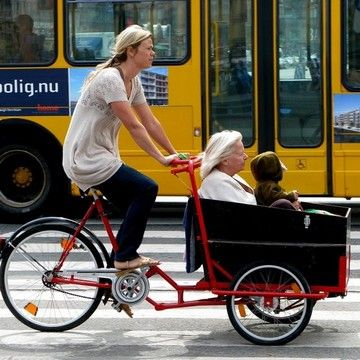 Cargo Bike - great example of how to make biking inclusive for all citizens.