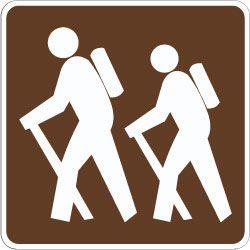 Hiking Trail Symbol Outdoor Recreation Sign – Kim Finn