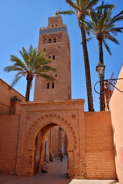 Koutoubia Mosque - Marrakech, Morocco by PM Kelly, via Flickr