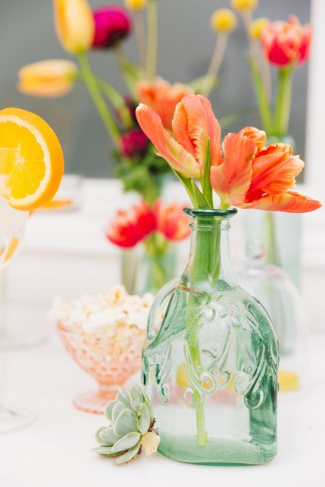 Orange Parrot Tulips; Cocktails & Chill Wedding Inspiration; Gina Humilde Events; Toronto Niagara Wedding Planner
