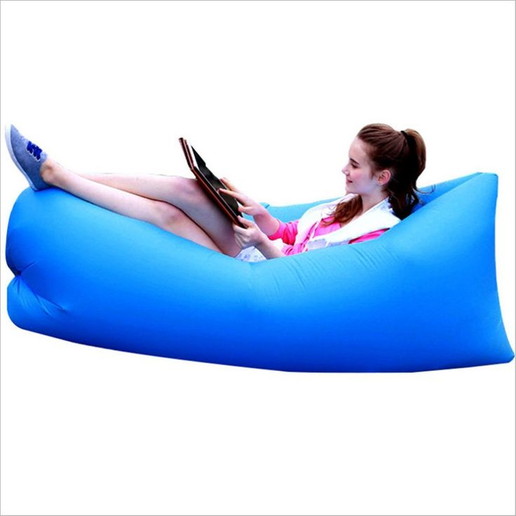 Inflatable Air Lounger Couch ,Portable Air Lazy Sofa Bag Waterproof Nylon Fabric hammock for Family Outdoor Party Camping Picnic Sport Outing Beach Park *** Remarkable product available now. : Air Lounges
