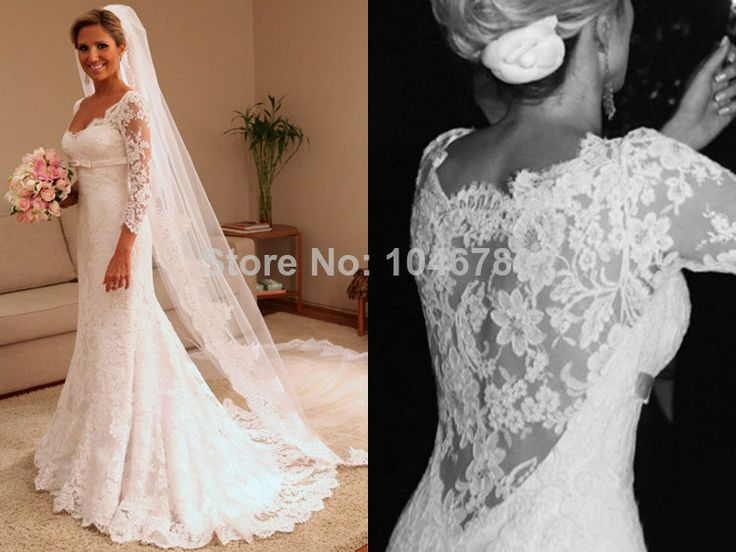 Lace Sleeves Directly From China Dress Shirts For Short Men Suppliers Vestido De Noiva 2016 Long Sleeve Plus Size Wedding Gowns Y Mermaid