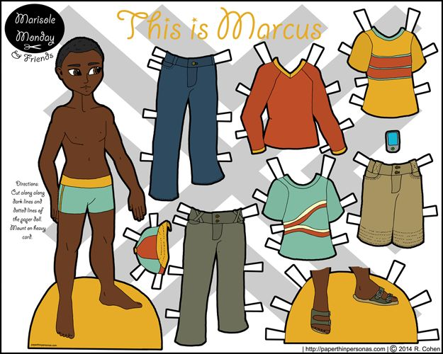 A New Paper Doll Man for Marisole Monday & Friends