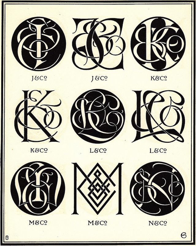 Monograms & Ciphers by AA Turbayne 1912 n