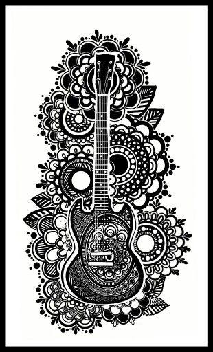 Дудлинг. Гитара.