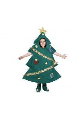 Disfraz de árbol de navidad infantil