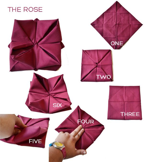 How To Make Table Napkin Designs step by step napkin boat plus Napkin Folding Rose