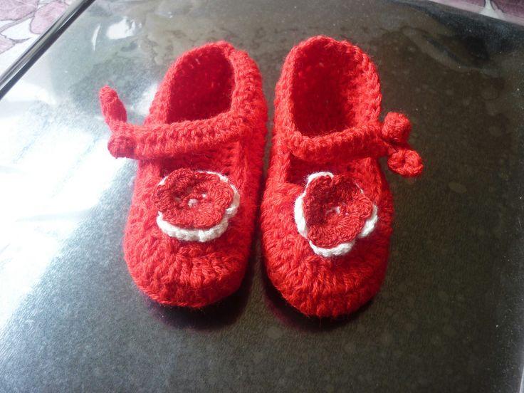 Zapaticos tejidos en crochet
