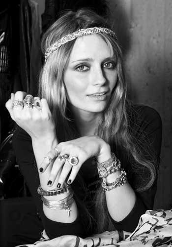 "Mischa Barton ""bohemian"" inspiration #black_and_white #effective #accessories #makeup_inspiration"