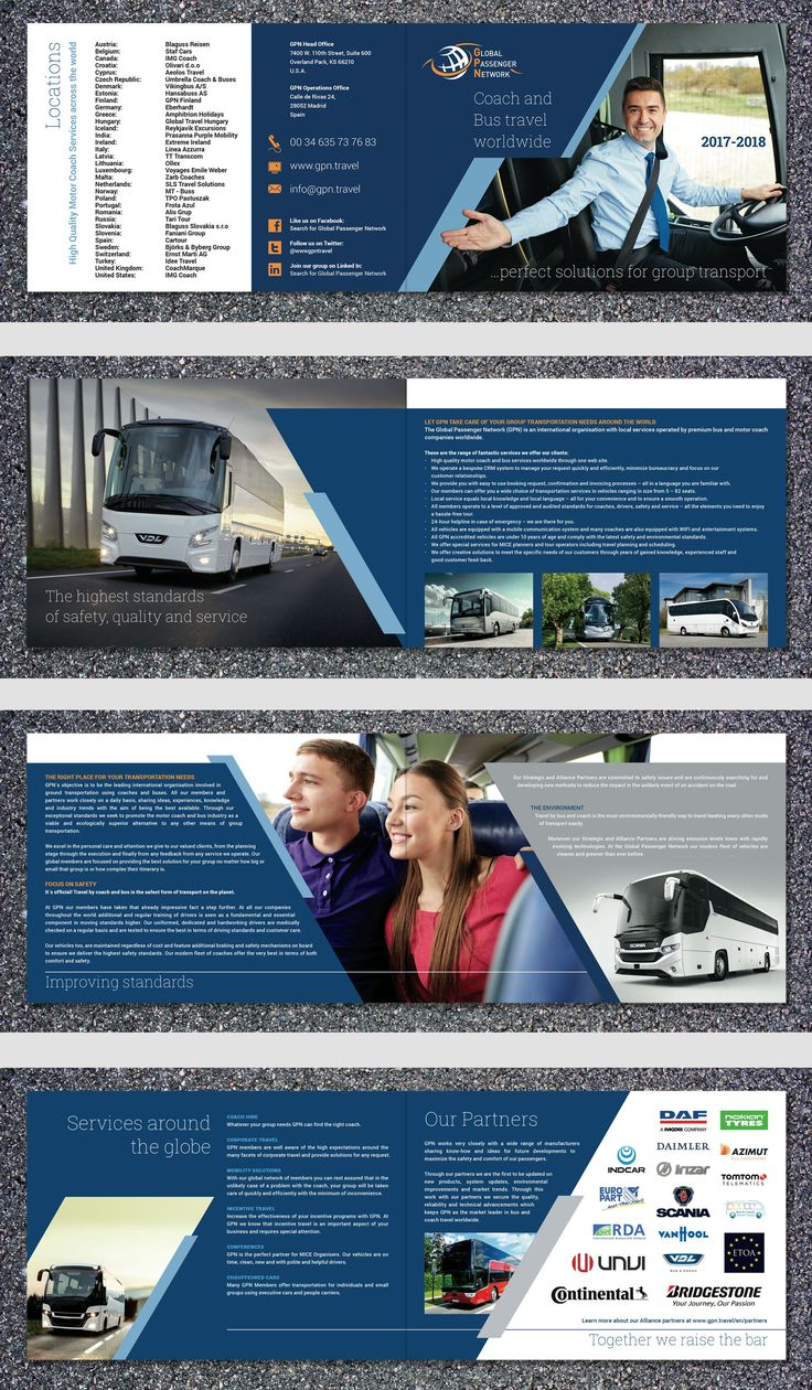 Global Passenger Network 2017-18 Brochure, 8pp A5.