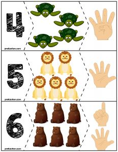 FREE Zoo quantity puzzles for teaching basic number skills. Great for preschool and kindergarten!