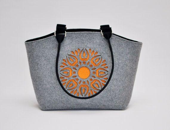 Felt Bag Handbag Purse Felt Cute Design by CelticSecrets on Etsy