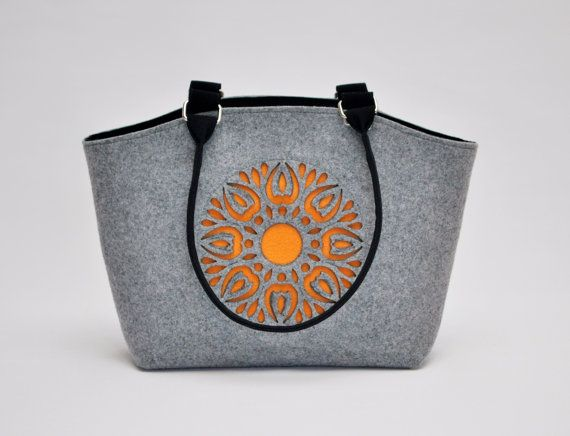 Felt Bag Handbag Purse Felt Cute Design by CelticSecrets on Etsy