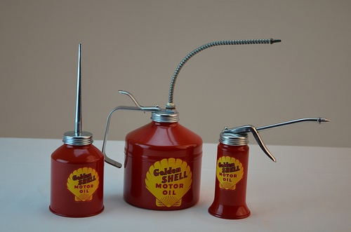Shell Oil Cans from www.gaspumpheaven.com! #collectible