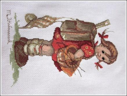 Cilys borduurwerk Schoolmeisje van Hummel (2010)