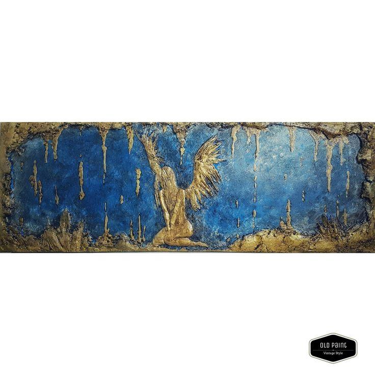 Bassorilievo in gesso su legno