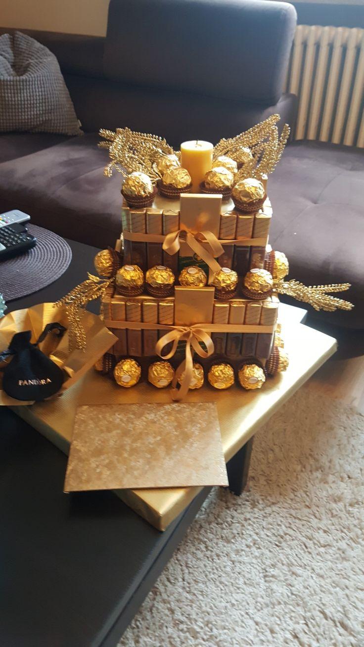 Ferrero Rocher und Merci Torte basteln | Torte basteln | Torten basteln, Süßigkeiten basteln και