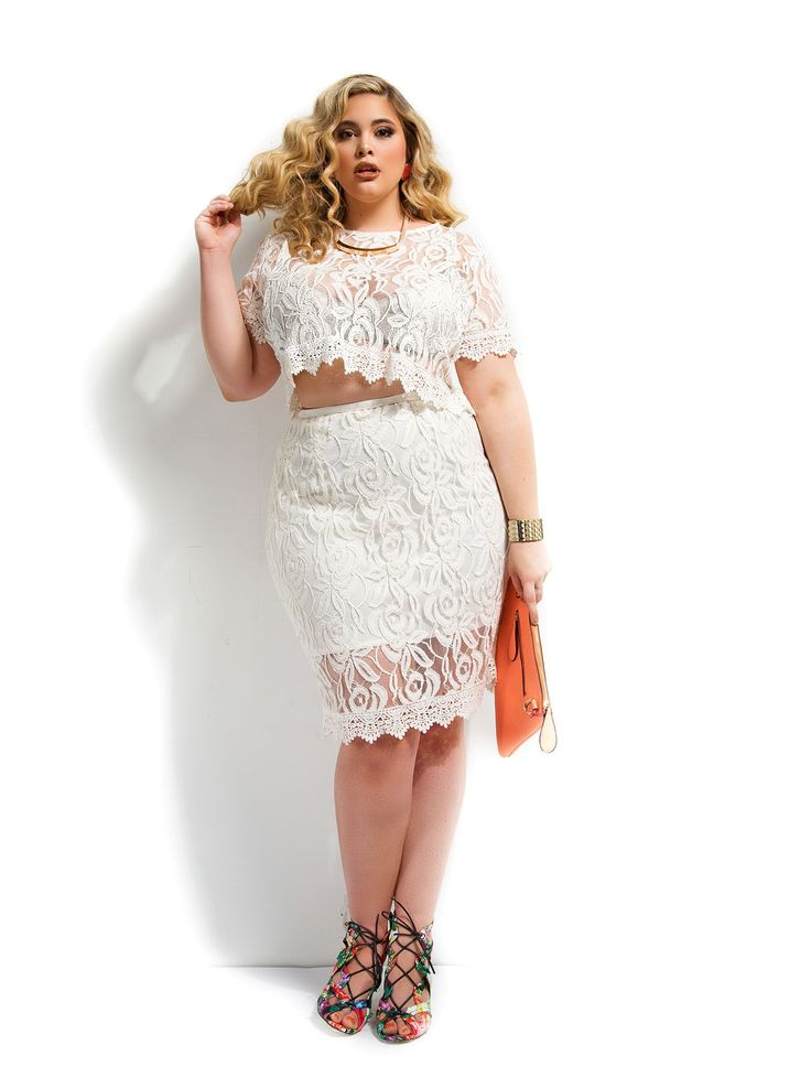 Plus size dress in white briefs