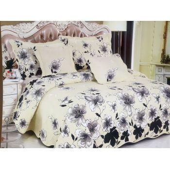 Cuvertura cu 5 piese din BUMBAC 100% pentru pat dublu Cod J-13 - acest produs elegant, cu textura placuta, va arata superb in dormitorul tau. #cuverturi #cuverturipat #dormitor #accesoriidormitor #DecoStores #amenajariinterioare #homedecor #bedcovers #bedroom