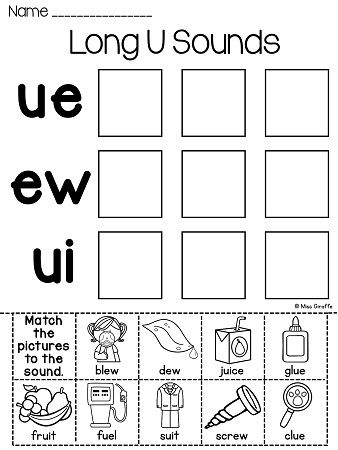 17 best images about kinder digraph- ew, ue and ui on Pinterest