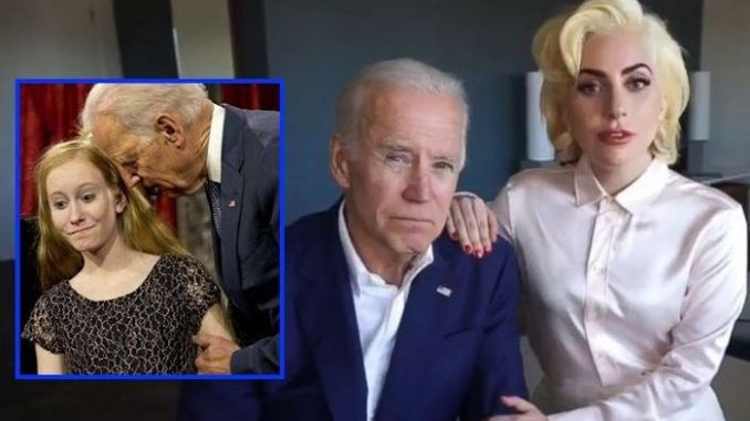 "Child Molester Joe Biden Teams Up With Lady Gaga To ""Stop Sexual Assault"""