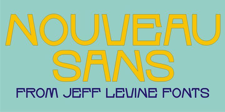 Nouveau Sans JNL (NEW font) - http://fontsdiscounts.com/nouveau-sans-jnl-new-font/