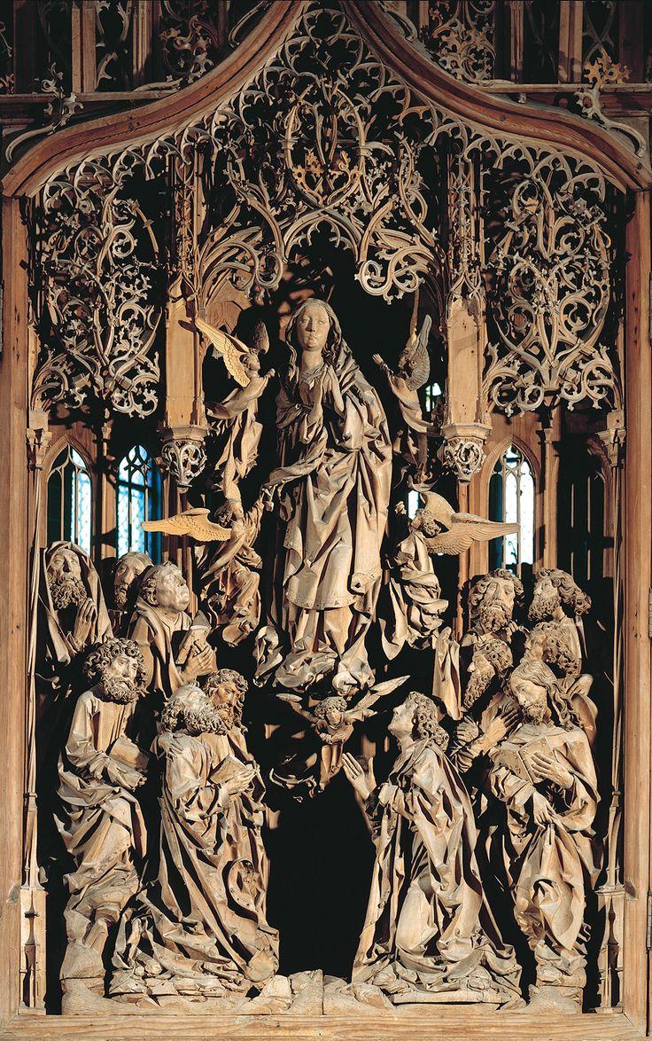 assumption of the virgin by tilman riemenschneider 1505 1508 herrgottskirche catholic artreligious