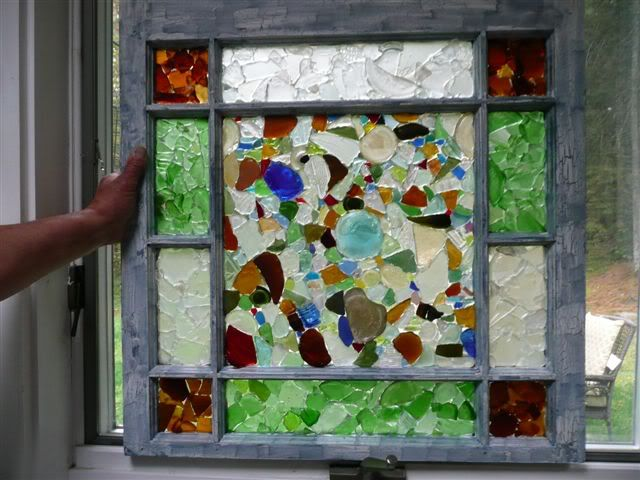 how to make pink stained glass panes
