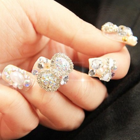 Gorgeous Wedding Nail Art False Nails